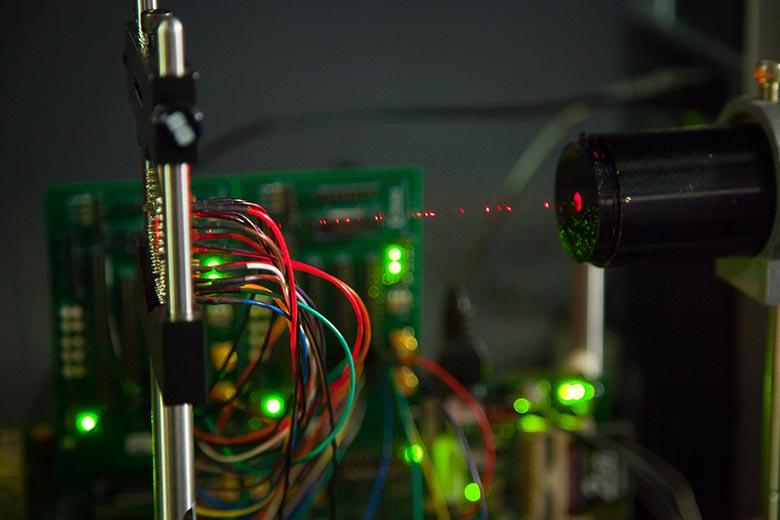 Close up of laser