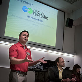 Dr. Stout delivering a presentation