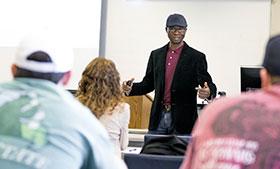 Dr. Oyeniyi teaching