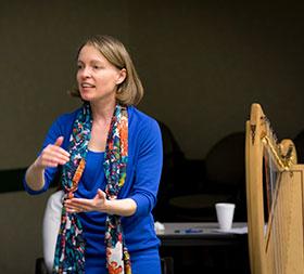 Harpist Clara Keller