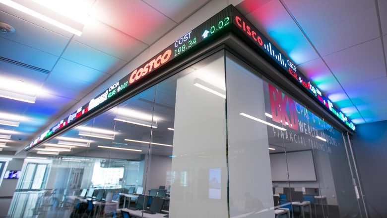 BKD Financial Trading Lab inside Glass Hall