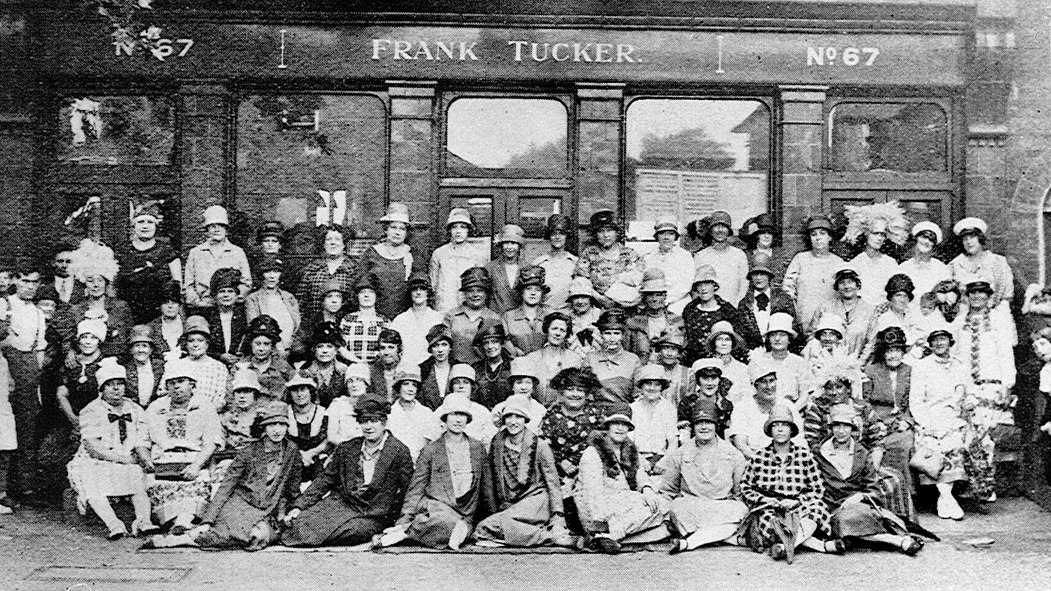 Group photo of women outside Frank Tucker pub