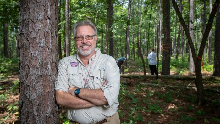 Dr. Robert Pavlowsky in the Mark Twain National Forest.