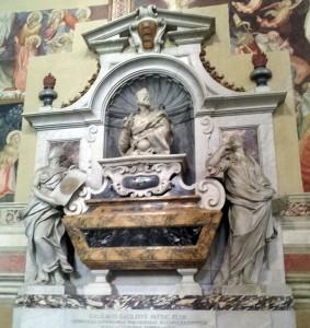 Galileo's tomb in Santa Croce