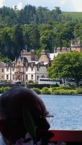 One of the hotels on the lake at Loch Lomond. Michael Jackson spent the night there.