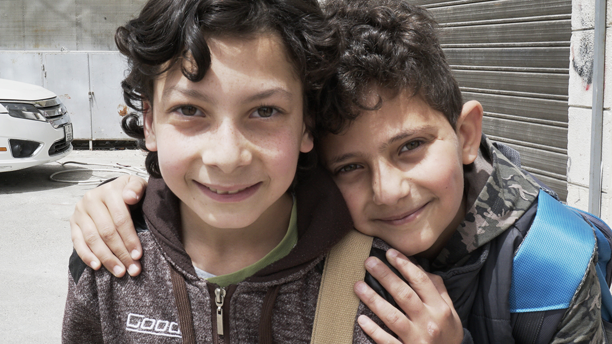 Children in the Syrian refugee camps of Jordan