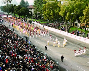 The PRIDE was the honor band in the 2008 Rose Bowl parade.