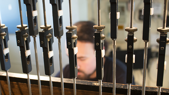 Joe Dias playing the Missouri State carillon.