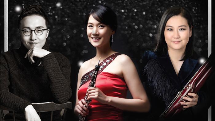 Photo of Jisoo Lee, Jung Choi, and Yoon Joo Hwang (Photo Credit: Jung Choi)