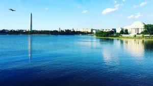 The Washington Monument and Jefferson Memorial