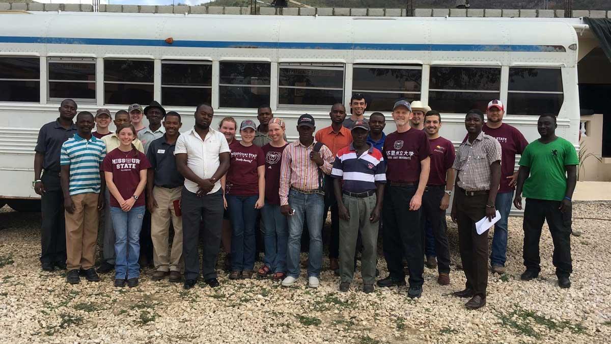 The MSU team and Haitian farmers