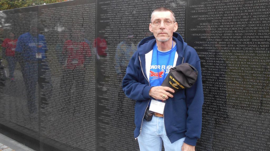 Mike Davis at the Vietnam War Memorial