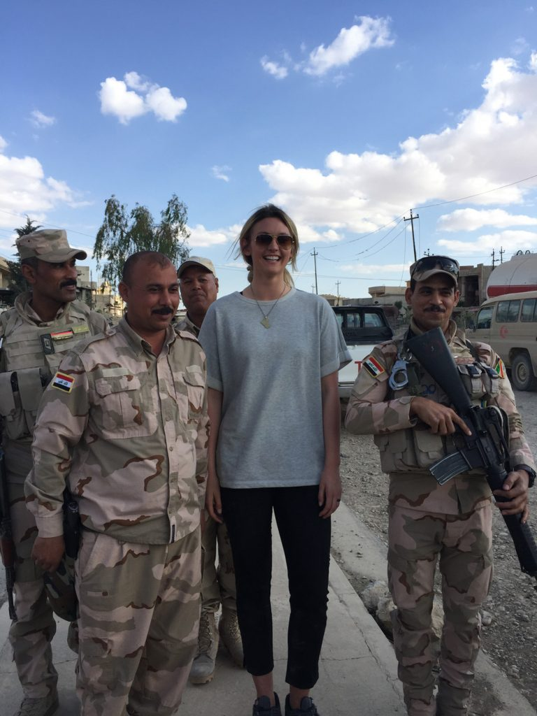 Madeline and members of the Iraqi Army
