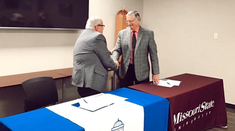 Missouri State Provost and Crowder President sign articulation agreements
