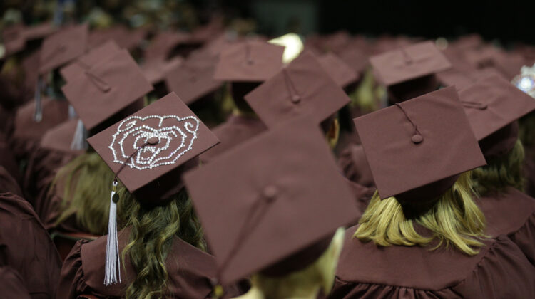 Missouri State Graduates in cap and gown.