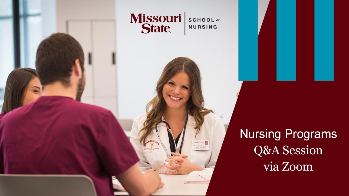 Nursing students at table