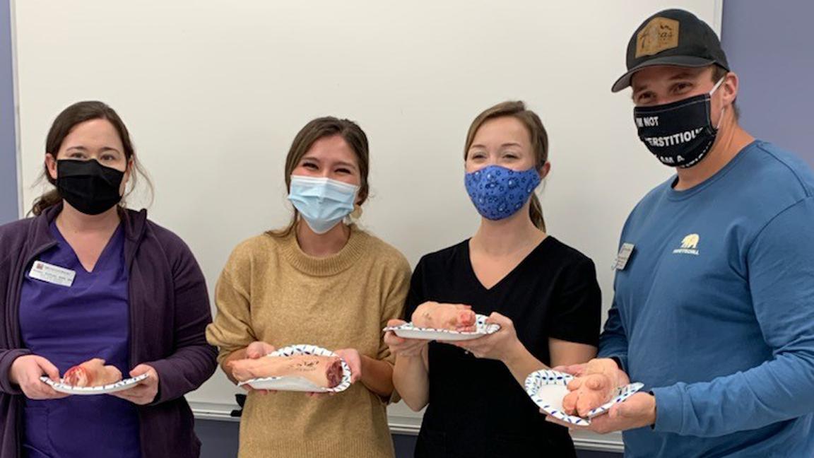 FNP students at suturing workshop