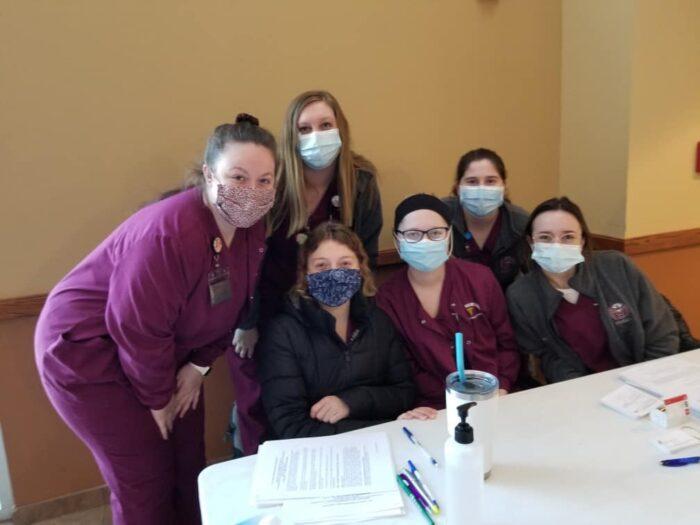 Nursing Students at CCHD Clinic