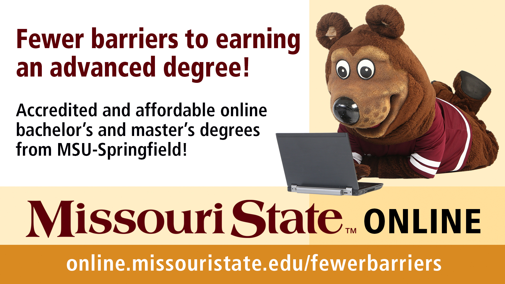 Fewer barriers campaign for Missouri State Online extends to Gohn Hall in West Plains