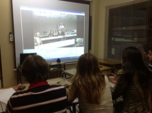 IDES class skyping with MSU students