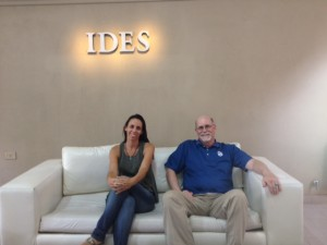 Dr. Mariana Gonzales and Dr. Gary Rader at IDES University