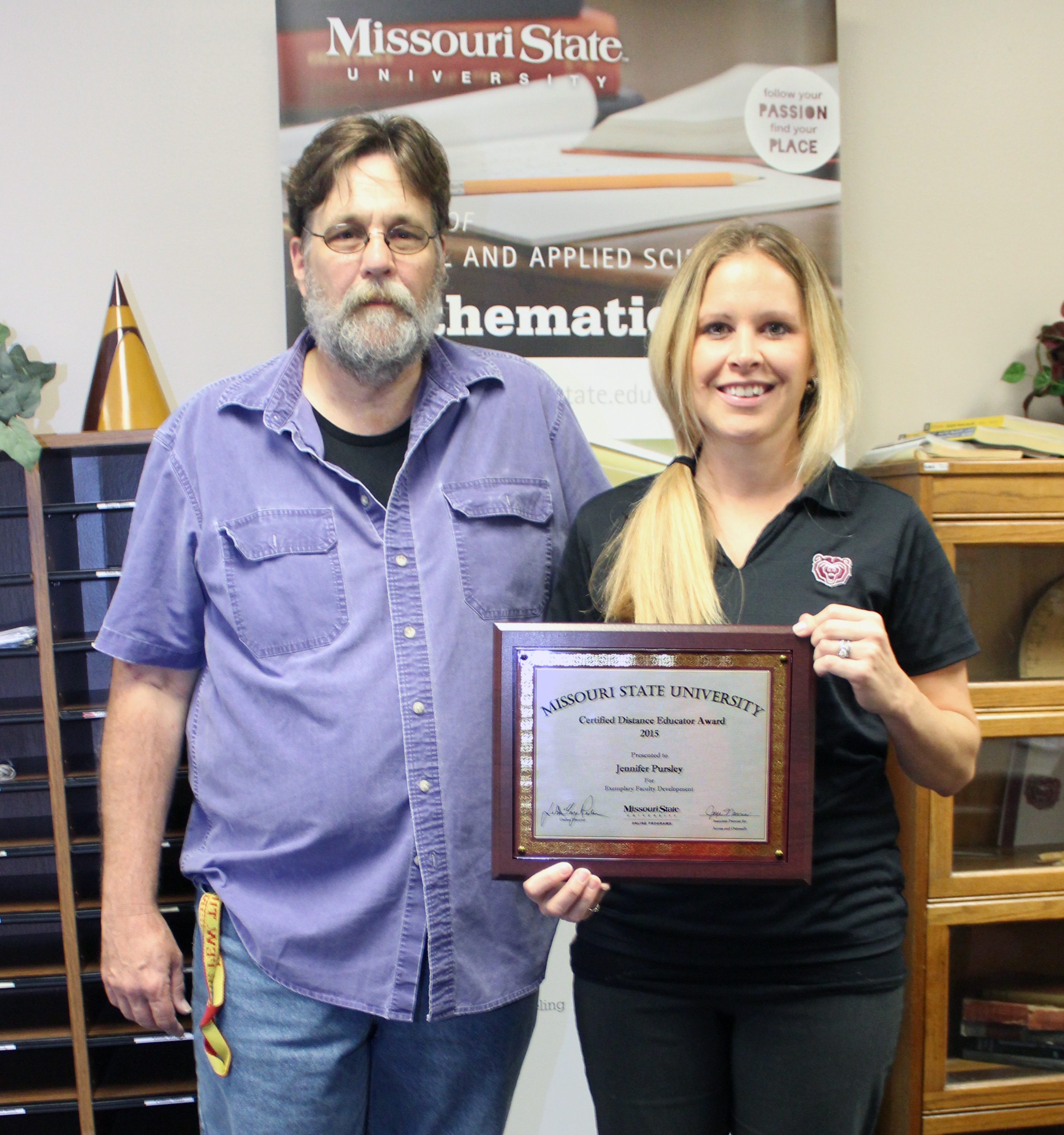 Jennifer Pursley Receives First Certified Distance Educator Award