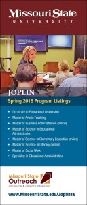 Missouri State Spring 2016 Joplin Program Listings