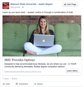 MSU Provides Options - Learn as you learn best - seated, online or through a combination of both!