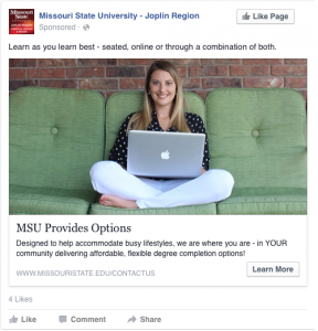 MSU Provides Options - Learn as you learn best - seated, online or through a combination of both