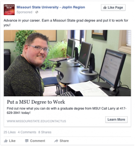 Put a MSU Degree to Work - Advance in your career. Earn a Missouri State grad degree and put it to work for you!