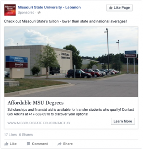 Affordable MSU Degrees - Check out Missouri State's tuition - lower than state and national averages!