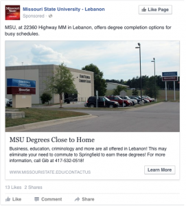 MSU Degrees Close to Home - MSU, at 22360 Highway MM in Lebanon, offers degree completion options for busy schedules.