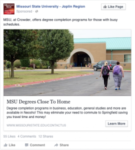 MSU Degrees Close to Home - MSU, at Crowder, offers degree completion programs for those with busy schedules.