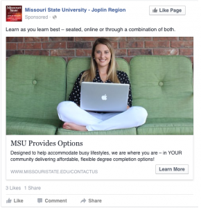 MSU Provides Options - Learn as you learn best -- seated, online or through a combination of both.