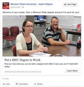 Put a MSU Degree to Work - Advance in your career. Earn a Missouri State degree and put it to work for you!