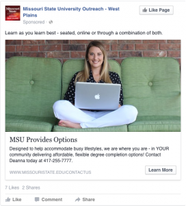 MSU Provides Options - Learn as you learn best - seated, online or through a combination of both.