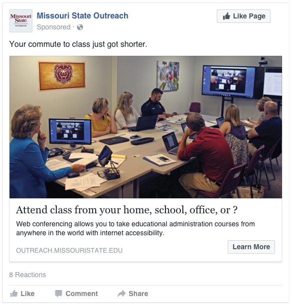 Spring / Summer 2017 Educational Administration / Missouri State Direct Campaign Complete