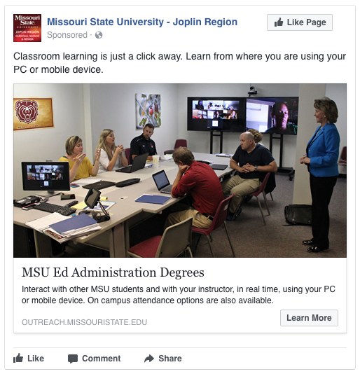 Summer and Fall 2017 Off-Campus Programs Facebook Ads