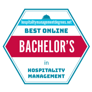 Badge for Best Online Bachelor's in Hospitality Management