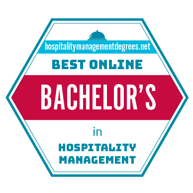 Badge for Best Online Bachelor's in Hospitality Management