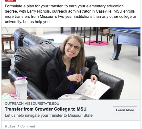 Summer and Fall 2018 Off-Campus Programs Facebook Ads