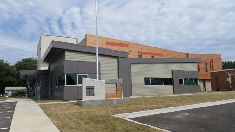 Crowder College - Webb City location on a bright sunny day.