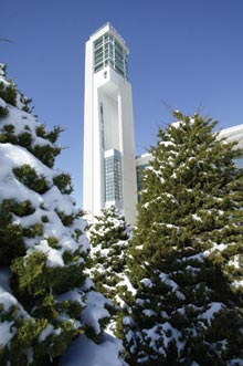 Snow covered Meyer Carillon