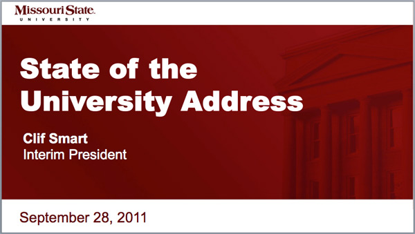 2011 State of the University Address