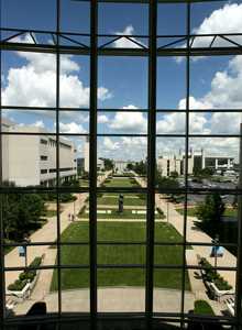 View from Meyer Library