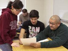 Juan Meraz with students