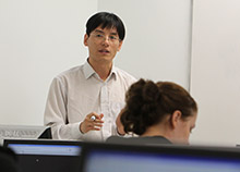 Faculty member teaching class