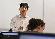 Faculty member teaching class