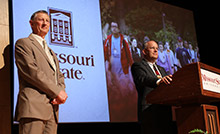 Clif Smart and Frank Einhellig at State of the University address