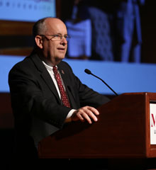 Clif Smart delivers State of the University address